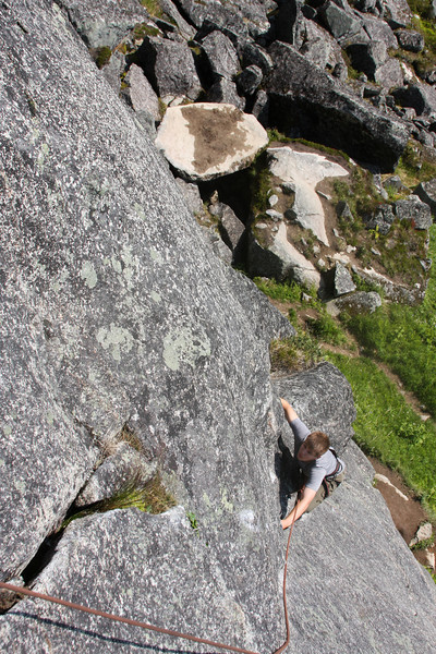 Mads works his way up <i>The Slot 5.7</i> in Archangel Valley.