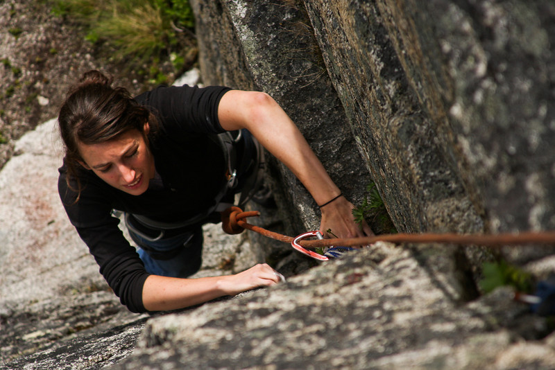 Rachel works her way up <i>Physical Attraction 5.8</i> in Archangel Valley.