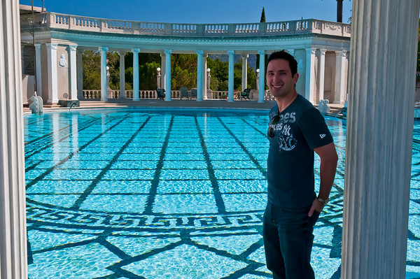 Me, in front of the Neptune Pool. Proof that I was actually there!