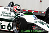 The Derek Daly Formula 1 Williams FW 08C, Chassis No.1, from 1979 at NJMP, driven by Michael Fitzgerald.<br /> <br /> I am finding that, in 1982, the No. 6 car was driven by Keke Rosberg and the No. 5 car was driven by Derek Daly, but this particular car was signed on the wing by Derek Daly.<br /> <br /> ©Sam Feinstein