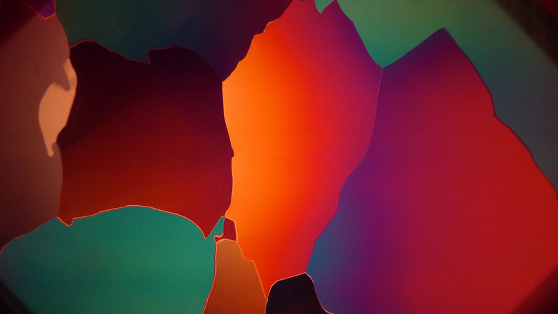 Close up off crystals seen using polarized light<br /> <br /> Photo: Sepp Kipfstuhl