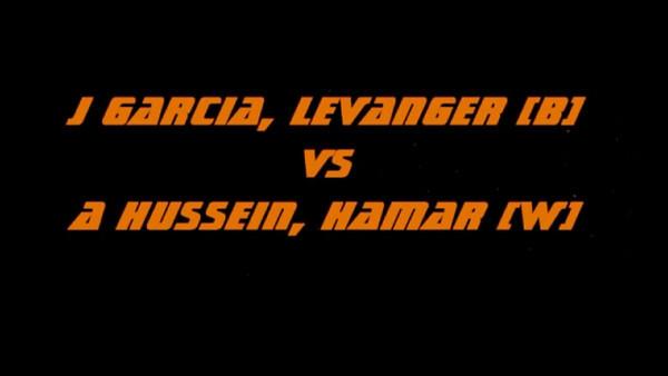 Finalen i U20   -  -66 Kg  Garcia / Hussein.    - Ippon på 9 sekunder.