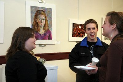 Art show in the Communications Studies Hall.