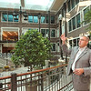 Tribune-Star file photo/Joseph C. Garza<br /> A new home for education: Bradley Balch, dean of the Indiana State University College of Education, discusses the attributes of the school's atrium during a tour of the building Thursday, July 23, 2009 on the Indiana State campus.