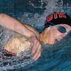 Winner: Brave swimmer Cristina Elliott swims her way to a win in the 200 yard freestyle.