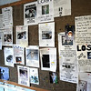 Lost: A bulletin board at the Terre Haute Humane Shelter displays photos of missing pets in the Terre Haute area.