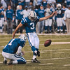 Tribune-Star/Joseph C. Garza<br /> Keeping them in the game: Indianapolis kicker Matt Stover kept the Colts in the game by kicking two field goals in the first half of the team's AFC Championship game win over the New York Jets Sunday in Indianapolis.