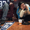 Can't watch: Rose-Hulman student and Colts fan Homa Hariri covers her eyes as she watches the Colts in the first half of Sunday's game.