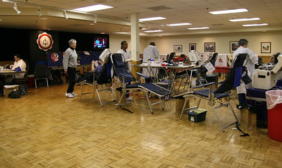 Students and the community donate blood to the American Red Cross Wednesday afternoon in Ritch Banquet Hall.