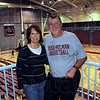 Survivors: Deanna and Jon Prevo in Rose Hulman's basketball arena. A fundraiser will be held during today's basketball games with proceeds going to the Wabash Valley Cancer Survivors Organization. Deanna is a 5+year cancer survivor.