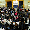 "Opening song: The crowd attending the Dr.Martin Luther King Jr. Commemoration Dinner sings the Negro National Anthem ""Lift Every Voice and Sing"" at the beginning of the evening."