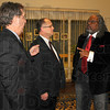 Meet and greet: Terre Haute mayor Duke Bennett chats with judge Chris Newton and Jeff Lorrick of the Human Rights Commission at the beginning of the evening honoring Dr. Martin Luther King Jr.