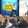 Enthusiasm: Dance instructors get the kids of St. Patrick's Elementary School fired up during the Radio Disney presentation Friday afternoon.