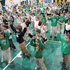 Enthusiastic: St. Patrick's Elementary School kids get excited during the activities event in the school gym Friday afternoon.