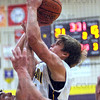 And one: Sullivan's #11, James Lisman gets fouled on the shot during game action against Northview Friday night. He made the shot and the ensuing freethrow for an old-fashioned three point play.