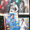 Borders: Publicity photos of Bruce Borders appearing as Elvis on display at Cobblestone Crossing Friday afternoon.