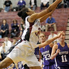 Got it: Rose-Hulman's #35, Donna Marsh hauls in one of her fourteen rebounds during game action vs. Bluffton Saturday afternoon.