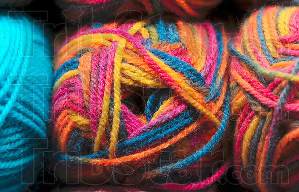 Tribune-Star/Joseph C. Garza<br /> A spectrum of possibilities: Various colors and sizes of yarn await the knitter at River Wools.