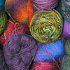 A spectrum of possibilities: Various colors and sizes of yarn await the knitter at River Wools.