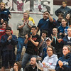 He's got it!: Terre Haute North fans come to their feet to cheer on Patriot wrestler David Knight as he clinches his victory in his 215-pound sectional championship match Saturday in the Northview sectional in Brazil.
