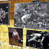 Detail: Photographs of former South wrestler, Sgt. Dale Griffin were on display during the North/South match Wednesday evening. A ceremony honored Griffin for his ultimate sacrafice for our country.