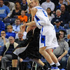 Location, location, location: Shocker Garrett Stutz and Indiana State Center Josh Crawford jockey for position under the Wichita State basket in first half action Wednesday night in Hulman Center.