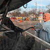 Tribune-Star/Joseph C. Garza<br /> Ready for the blanket of snow: Jack Simmons of Jack Simmons Concrete places his newly purchased snow shovel in the bed of his pickup truck Wednesday after making the purchase at Rural King.
