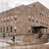 Tribune-Star/Joseph C. Garza<br /> Cold stone scenery: City Hall was closed for business Monday after the heating system stopped.