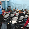 Tribune-Star/Joseph C. Garza<br /> Preparing for college: Terre Haute South Athletic Director Tony Brewer discusses the process of applying to college during the Martin Luther King Jr. Youth Summit Monday at the Booker T. Washington Recreational Center.