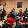 Tribune-Star/Joseph C. Garza<br /> Acknowledge your talent: Alan Hill, vice president of financial aid/admissions of Franklin College, engages students from elementary school to high school in a conversation about their talents Monday at the Booker T. Washington Center.