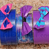 Variety: Elly Williams creates wallets, purses and these hair bows from duct tape. The purses, large and small sell for $10 while the wallets go for $5. These hair bows sell for a mere 50 cents.