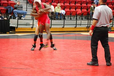 GWU wrestling match against Campbell University.