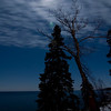 Vollmond ueber dem Lake Superior