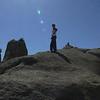 scrambling the rocks