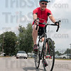 Tribune-Star/Joseph C. Garza<br /> Ready for the RAIN.: Father Rick Ginther has been preparing for the RAIN since last August and will participate in his first ride Saturday.