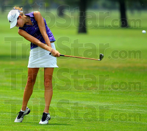 Top girl: Rachel Welker won the girl's division of the Junior City Golf match Thursday.