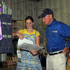 Vigo's best: Tressa Steward shows her 4-H entry to Indiana Governon Mitch Daniels Thursday afternoon. Her Grand Champion ribbon came in the Home Environment category.
