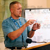 Tribune-Star/Joseph C. Garza<br /> DNA recovery: Indiana Department of Corrections investigator Frank Littlejohn explains how a 1st Responder ID Touch DNA Recovery kit is used to the Wabash Valley Correctional Facility Community Advisory Board Thursday near Carlisle.