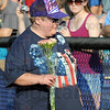 """Patriot: Roxanna Robertson """"signed"""" the National Anthem before the Rex game against Nashville Thursday evening. The Rex and fans are celebrating the 20th Anniversary of the Americans with Disabilities Act."""
