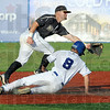 Stolen base: Rex runner Nolan Earley makes it safely into second base during game action Thursday against Nashville.
