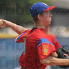Good enough: After a rocky start, Cody Girton settled down on the mound for Post 346.