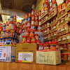 Practical help: Memorial United Methodist Church collected some 2,000 jars of peanut butter that will be sent to Haiti.