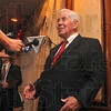 Tribune-Star/Joseph C. Garza<br /> Q & A: Sen. Richard Lugar answers a question about the extension of unemployment benefits as he meets with the media after his speech to the Chamber of Commerce Friday at the Holiday Inn.
