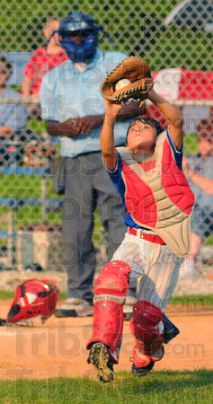 Out: North Terre Haute catcher Chandler Atterson snares a pop foul for an out.