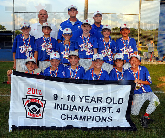 Champs: The North Terre Haute All-Stars are the District 4 9-10 year old champions.