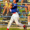 Big hit: Parker Bray gets a two run double against the Clinton All-Stars.