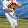 Sure hands: Post 346 2nd baseman Tyler Wampler gloves the ball for a throw to first an an out.