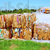 Ready to ship: Bales of compressed cardbaord and plastic rest outside the South Walmart store. About 10-12 bales of cardboard and 2 of plastic are generated by the store each week.