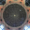 Overview: The ceiling of the Indiana Theater rotunda echoes the rest of the structure with its Spanish Baroque design.
