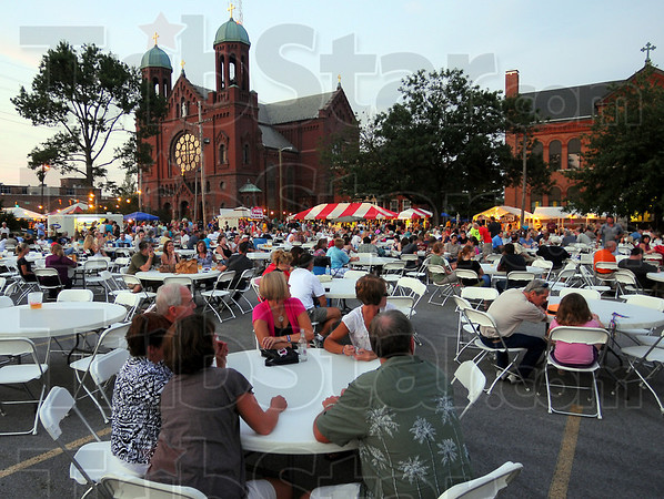 Annual event: Good weather made for good attendance at the St. Benedict Church Street Fair Friday evening. Music and food, as well as games for children and adults were ofered.